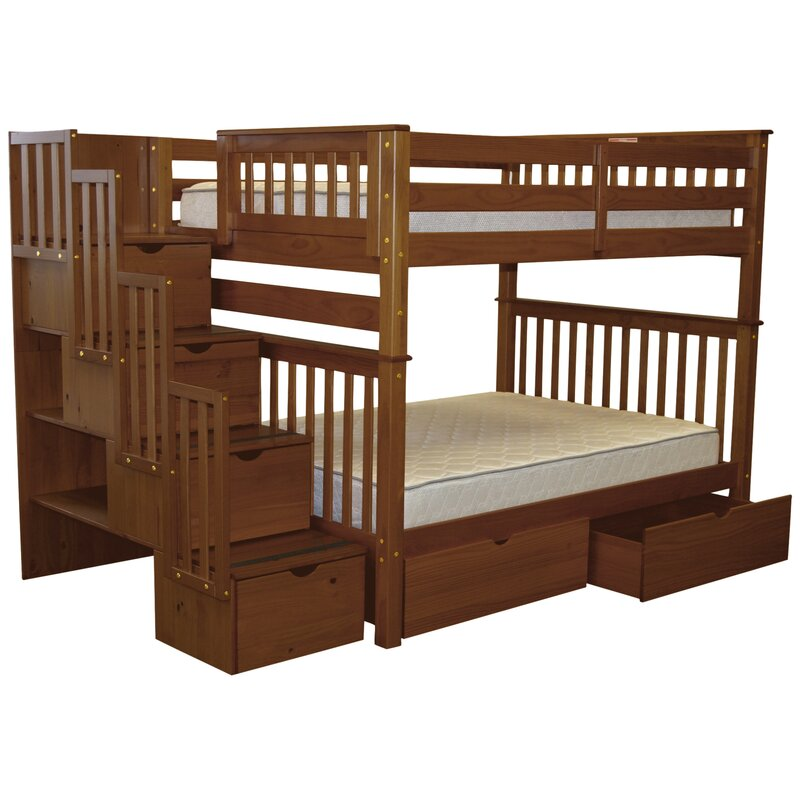 Harriet Bee Tena Full Over Full Bunk Bed With Extra Storage