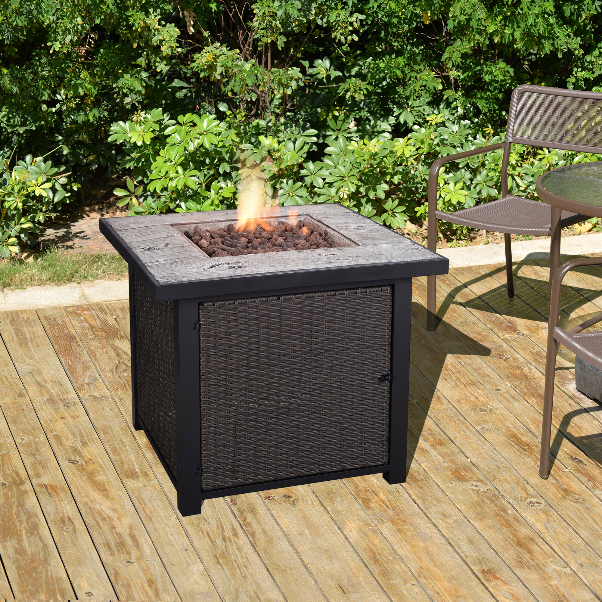 Peaktop outdoor propane gas fire pit table wayfair