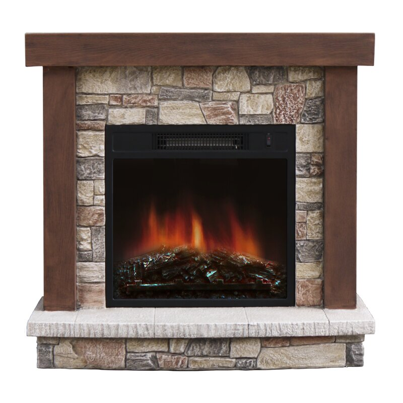 Stonegate Urban Mountain Lodge Electric Fireplace & Reviews | Wayfair