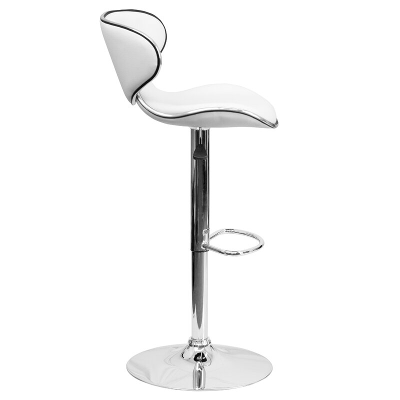 Wade Logan Marlon Adjustable Height Swivel Bar Stool