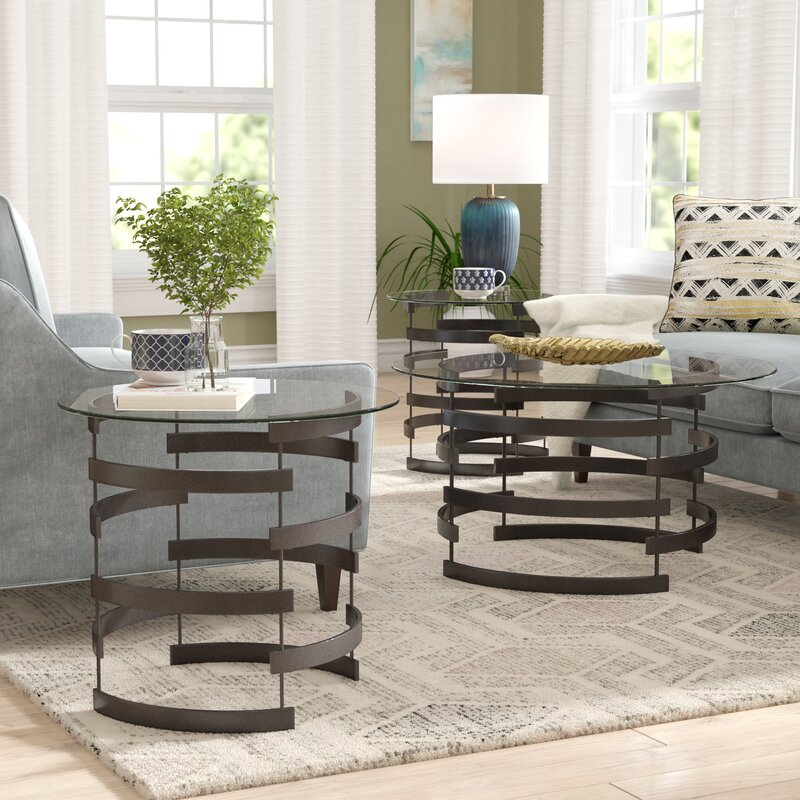Bailey 3 Piece Coffee Table Set : 3 piece coffee table set - Pezcame.Com