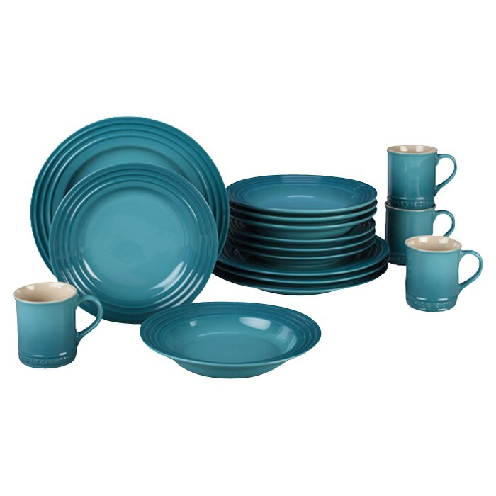 Stoneware 16 Piece Dinnerware Set, Service For 4