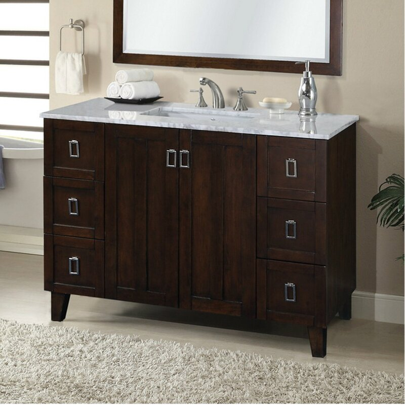 Zipcode Design Lehigh 48 Single Sink Bathroom Vanity Set