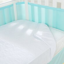 crib mattress pad a waterproof mattress pad will help protect the mattress from unavoidable accidents the pad should be no thicker than 1 inch and allow