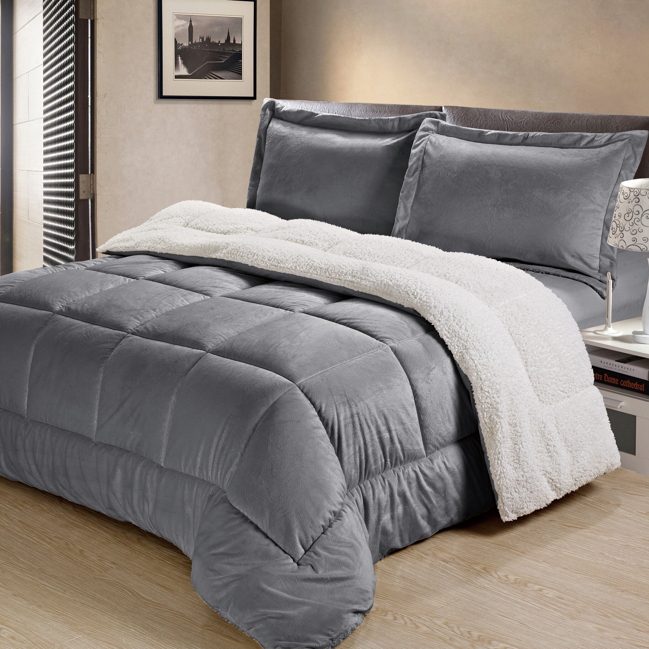 bath bed reviews alternative pdx down wayfair home reversible comforter alwyn