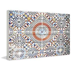 'Kortoba' by Parvez Taj Painting Print on White Wood