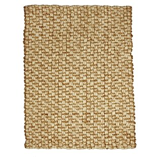 Jeneva Hand Woven Jute And Wool Beige Area Rug