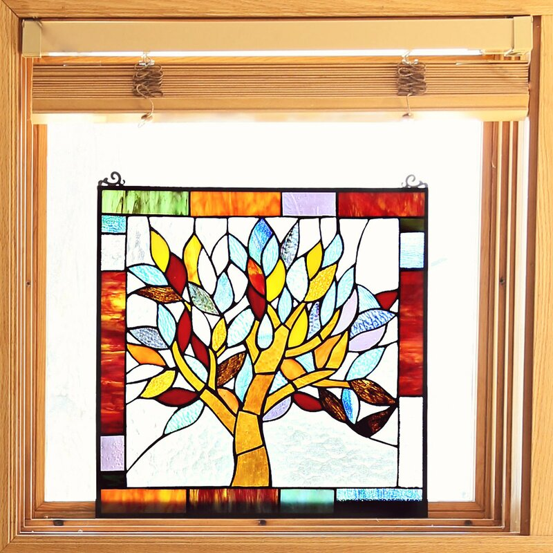 River Of Goods Mystical World Tree Tiffany Style Stained Glass
