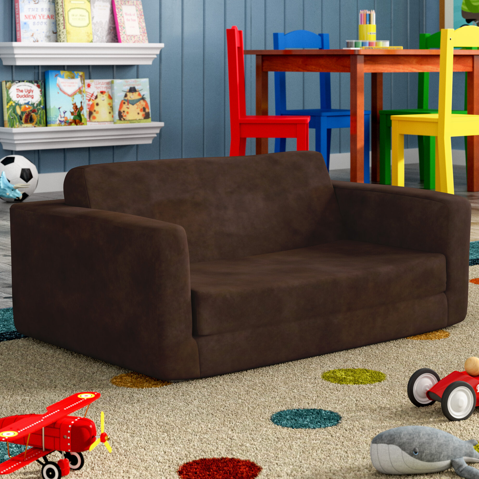 viv rae giancarlo flip toddler sofa reviews wayfair - Toddler Sofa