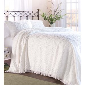 wedding ring tufted chenille king bedspread