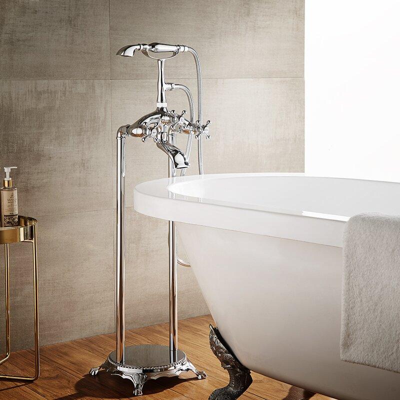 Vinnova Cassandra Double Handle Floor Mount Clawfoot Tub Faucet Trim ...