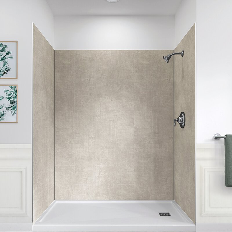 Hazelwood Home Jetcoat 78 X 60 32 Five Panel Shower Wall Reviews Wayfair
