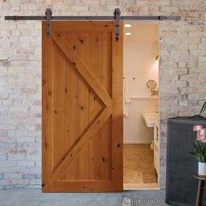 Bent Strap Sliding Barn Door Hardware Set & Barn Door Hardware Youu0027ll Love | Wayfair pezcame.com