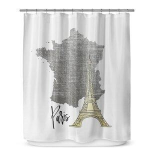 Paris 72 Shower Curtain
