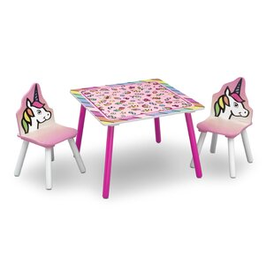 Choe Children's 3 Piece Square Table and Chair Set by Zoomie Kids
