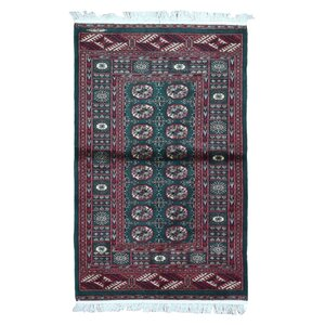 Ewan Oriental Hand-Woven Wool Red Area Rug