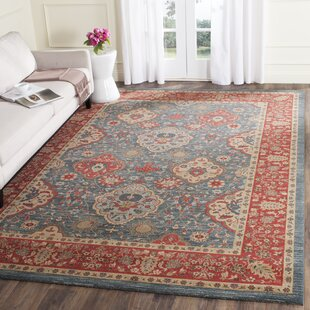 Pennypacker Dark Red Blue Area Rug