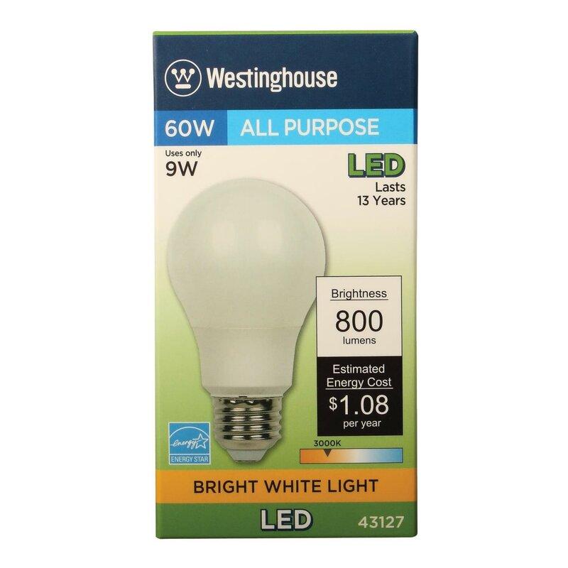 Westinghouse Lighting 9 Watt 60 Watt Equivalent A19 Led