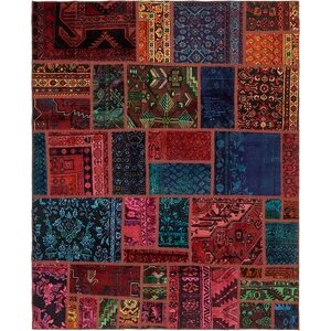 Sela Vintage Persian Hand Woven Wool Rectangle Blue/Red Area Rug