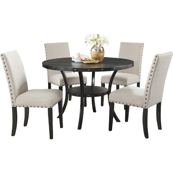 Gracie oaks amy espresso piece dining set reviews