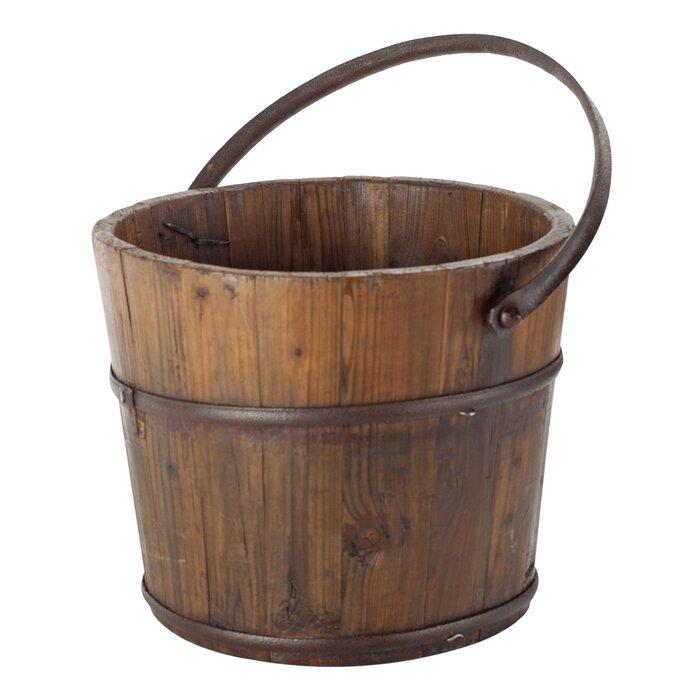Vintage Wooden House Bucket - Antique Revival Wayfair