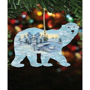 polar bear scenic hanging figurine set of 3