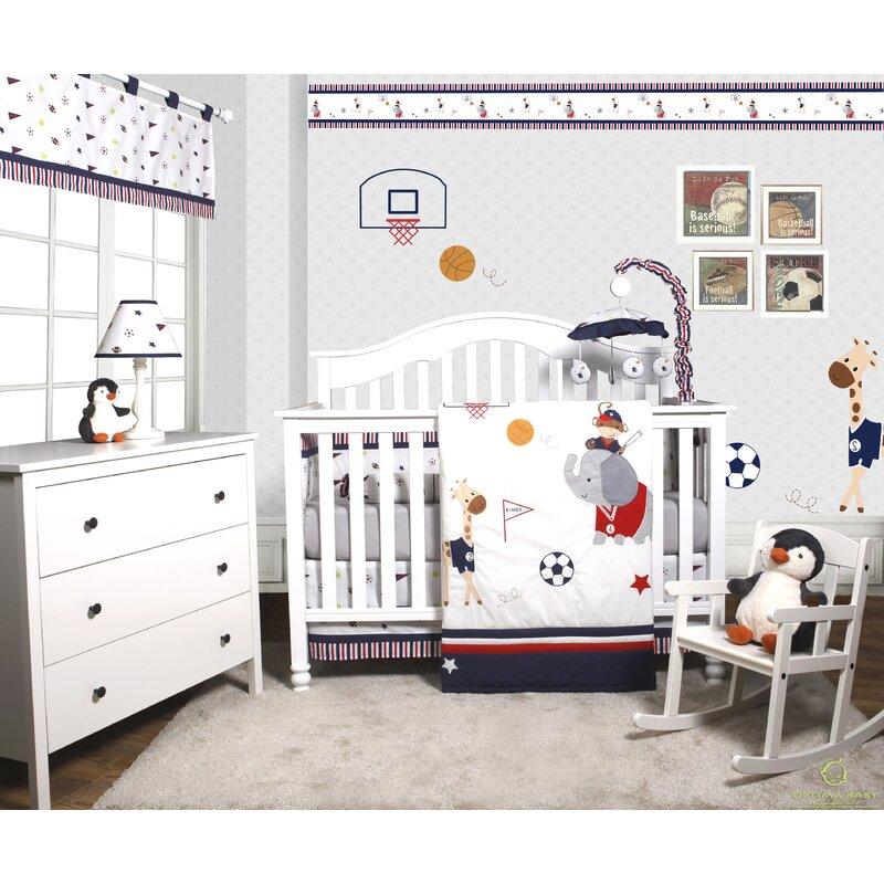 68a59c45e44b Harriet Bee Porter Animal Sports Festival 6 Piece Baby Boy Nursery ...