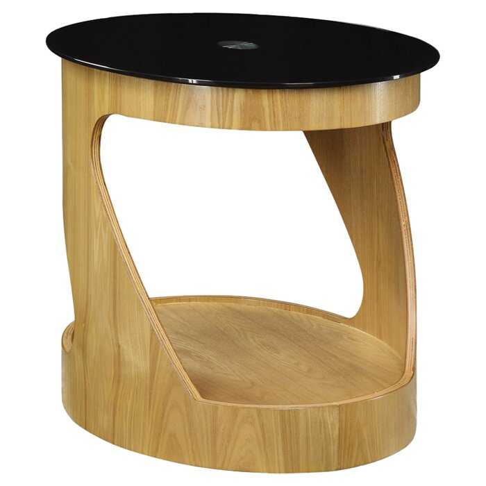 jual curve side table with storage & reviews | wayfair.co.uk