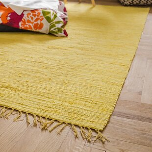 Sue Handwoven Cotton Yellow Rug