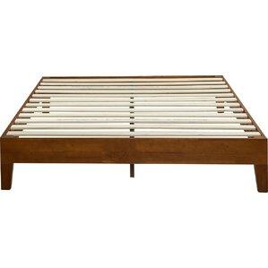 Deluxe Wood Platform Bed by Zinus