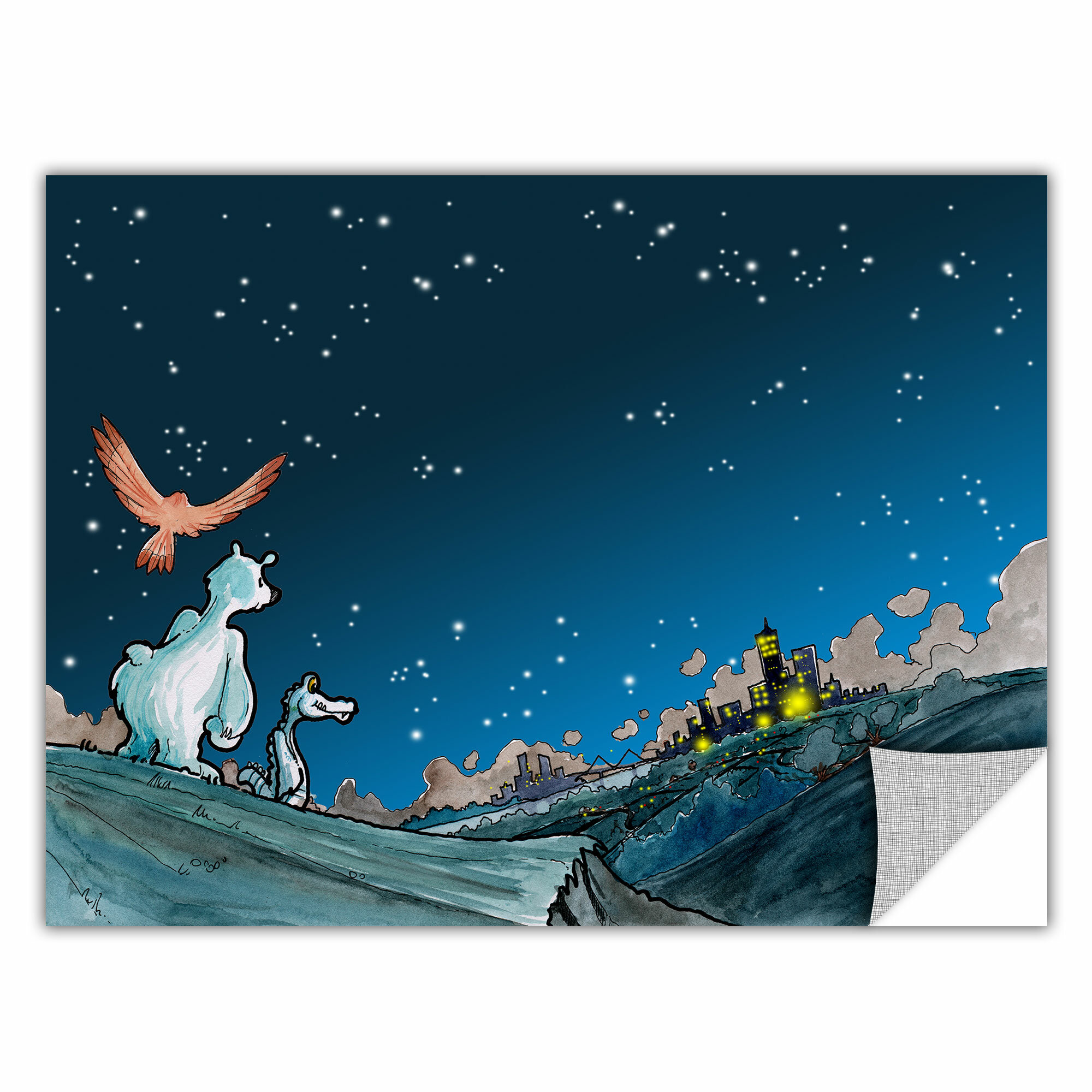 24 by 32-Inch ArtWall ArtApeelz Luis Peres Polar 2 Removable Wall Art Graphic