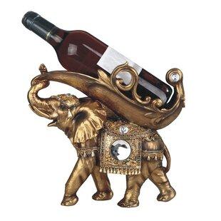 Derrik Elephant 1 Bottle Tabletop Wine Holder