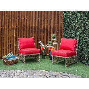 Astonishing Red Sunbrella Patio Lounge Chairs Youll Love Wayfair Machost Co Dining Chair Design Ideas Machostcouk