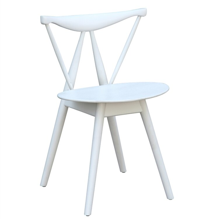 Mod Kitchen Chair Wood In Back White In Front