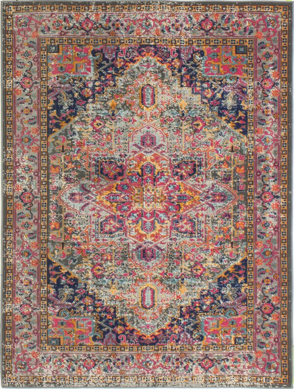 mistana blackwell multi-colored area rug & reviews | wayfair