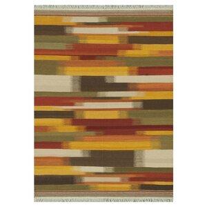 Santana Hand-Woven Red/Yellow Area Rug