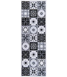Micha Grey/Black Rug by World Menagerie
