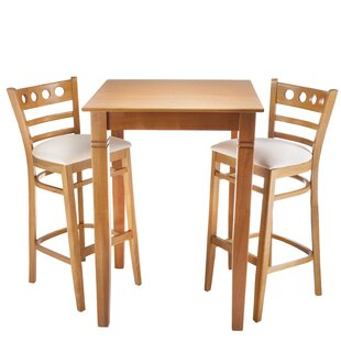 Isaias 3 Piece Pub Table Set