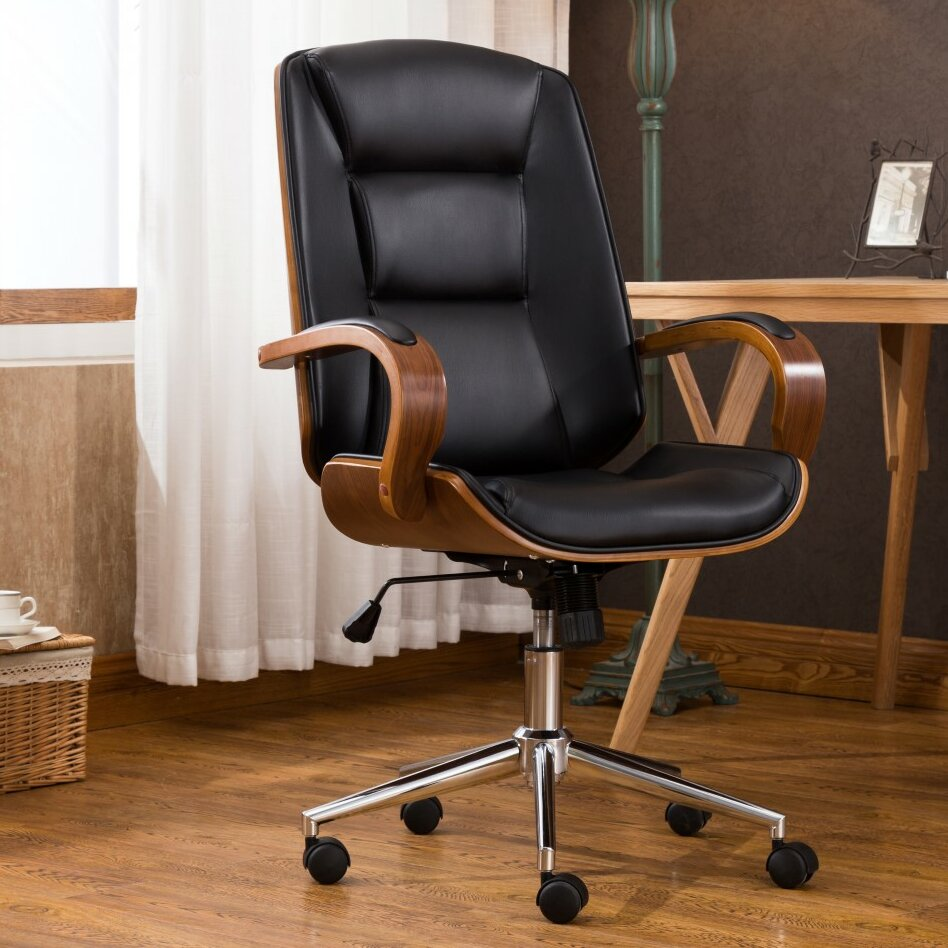 adjustable office chairs. George Oliver Brattleboro Adjustable Office Low-Back Executive Chair \u0026 Reviews | Wayfair Chairs R