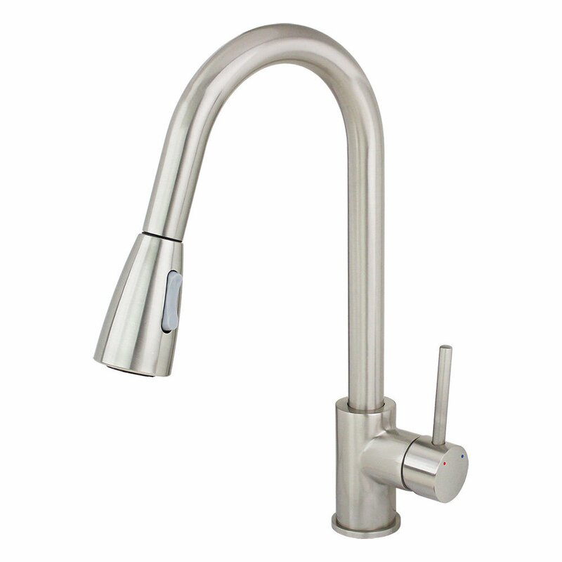 Perfect Single Handle Single Hole Kitchen Faucet With Pull Out Dual Spray