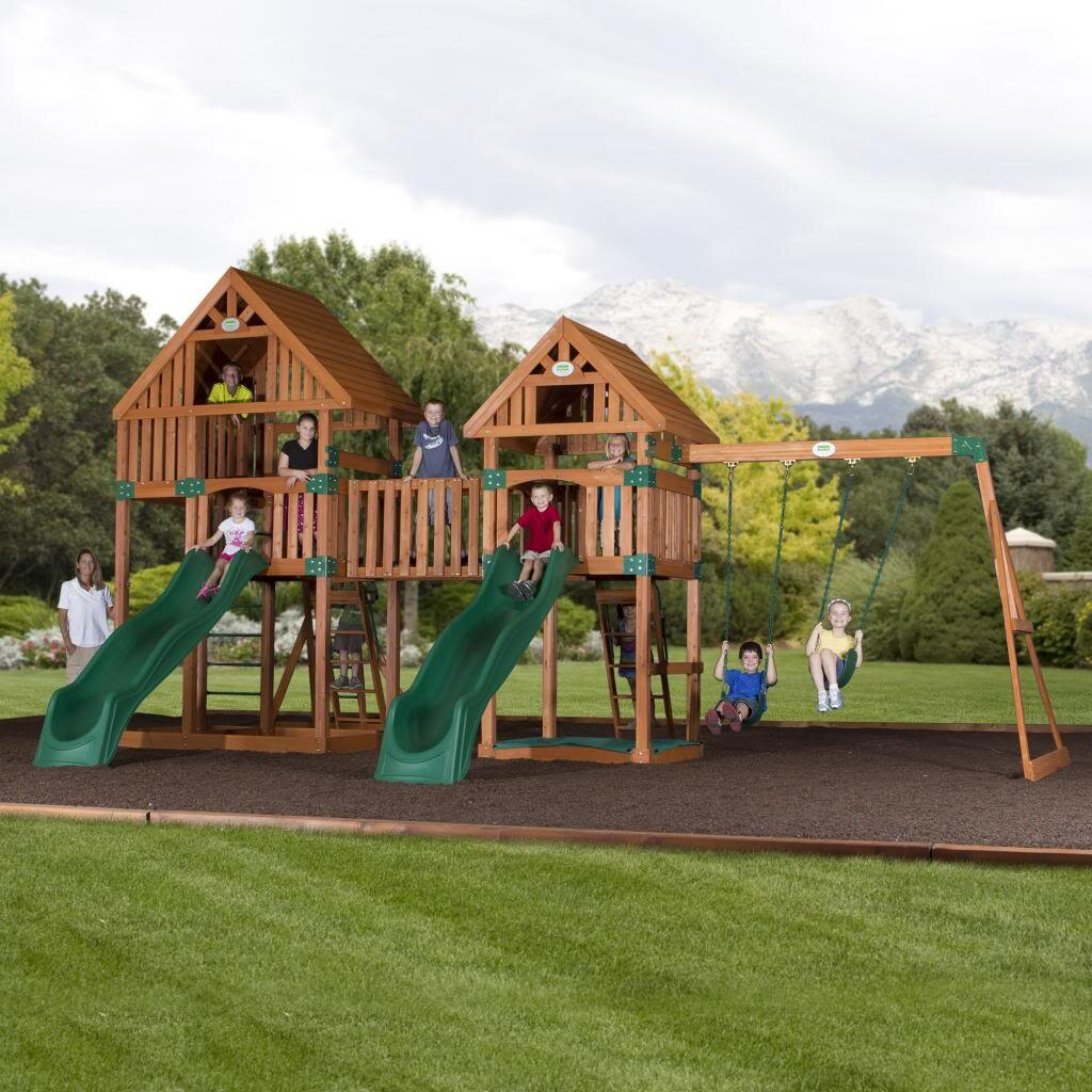 Backyard Discovery Vista Cedar All Cedar Swing Set Wayfair