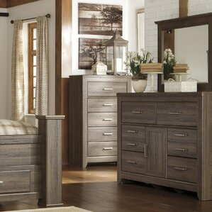 Granite Range 6 Drawer Dresser with Mirror by Loon Peak