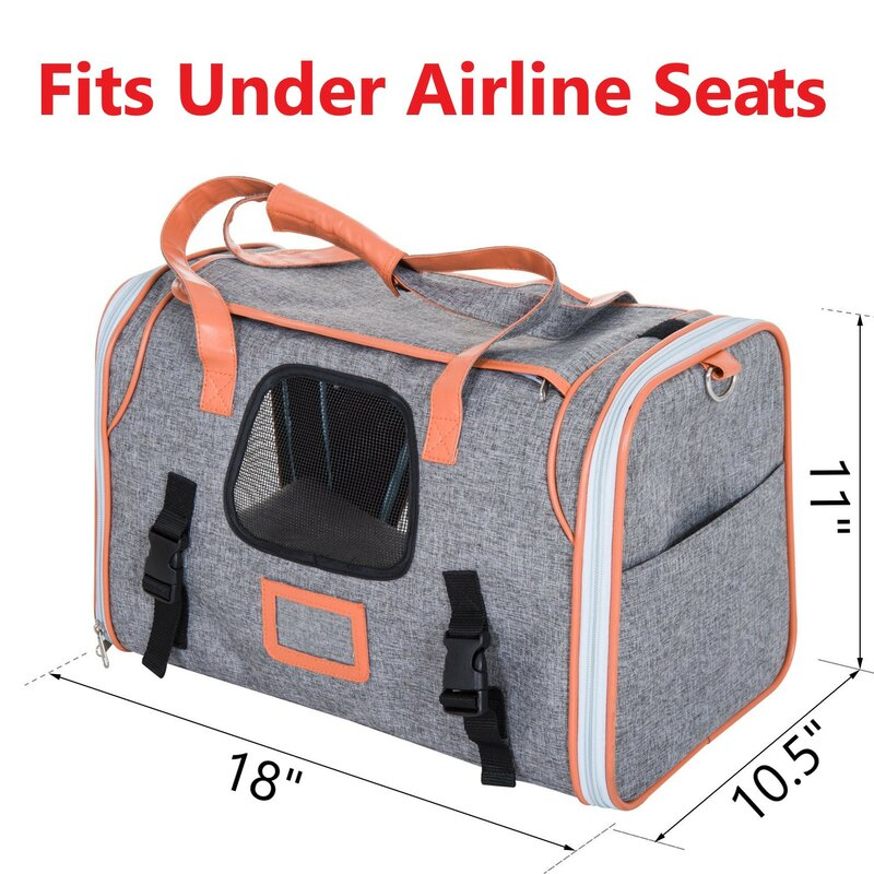 5ec0ae7e8f33 Tucker Murphy Pet Baltazar Small Soft Sided Airline Approved Bag ...