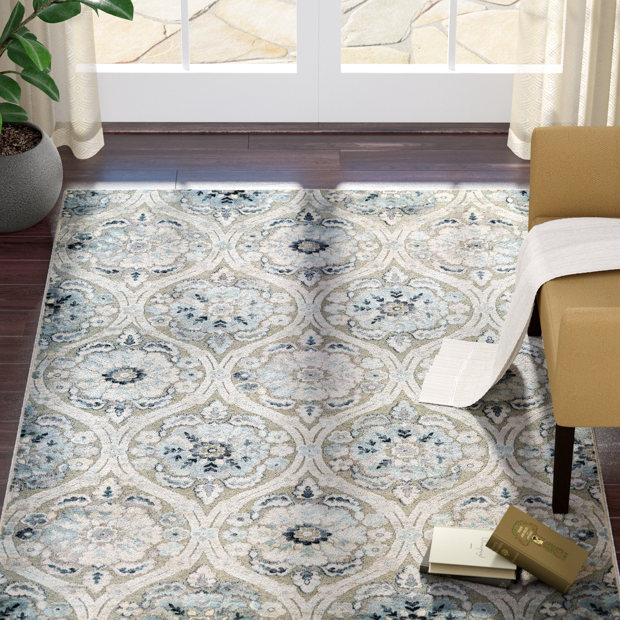 Darby Home Co Walshville Greigeantique Cream Area Rug & Reviews