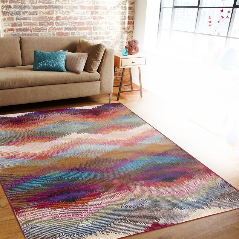 world rug gallery loft multicolor area rug & reviews | wayfair
