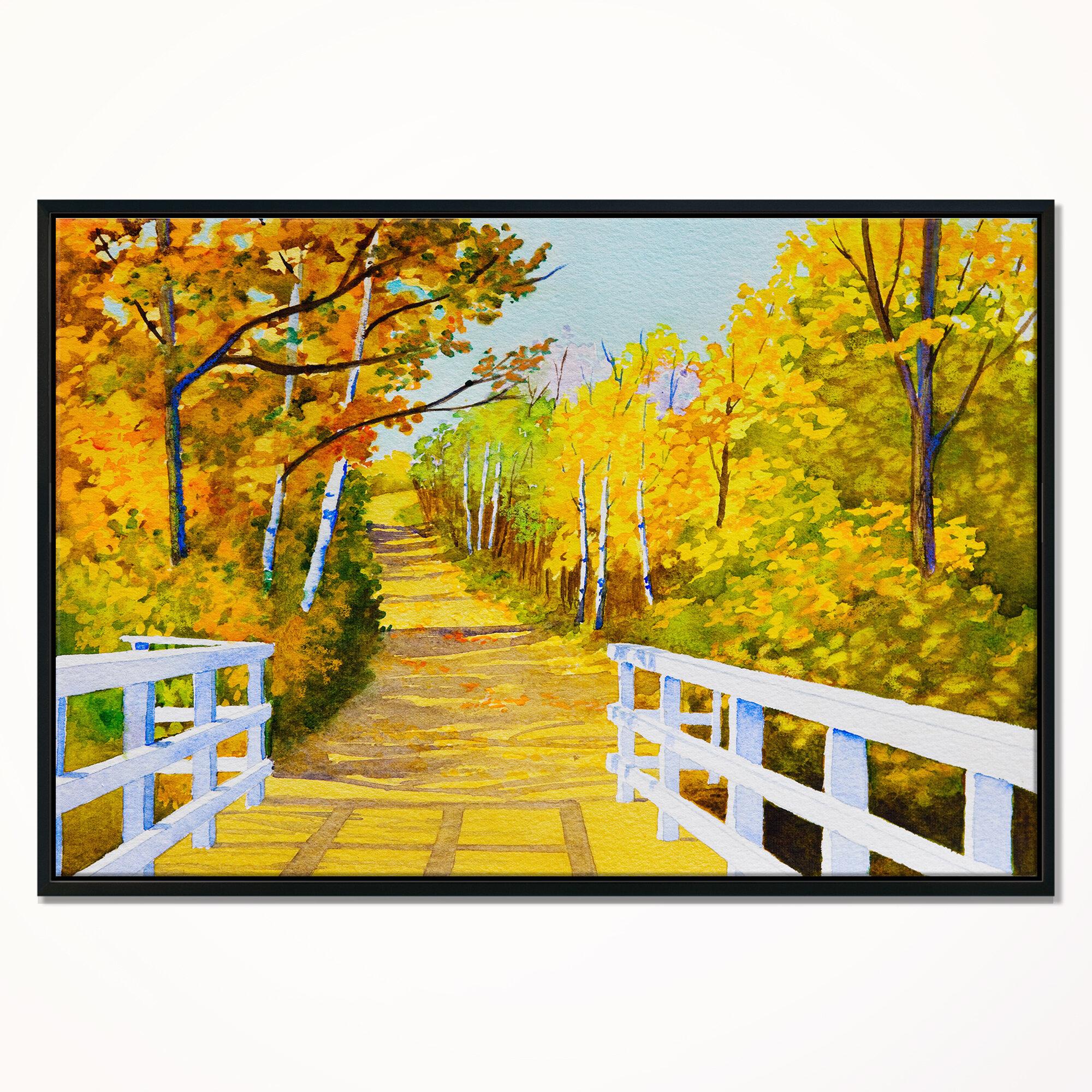 East Urban Home \'Parkland Trails\' Framed Graphic Art Print on ...