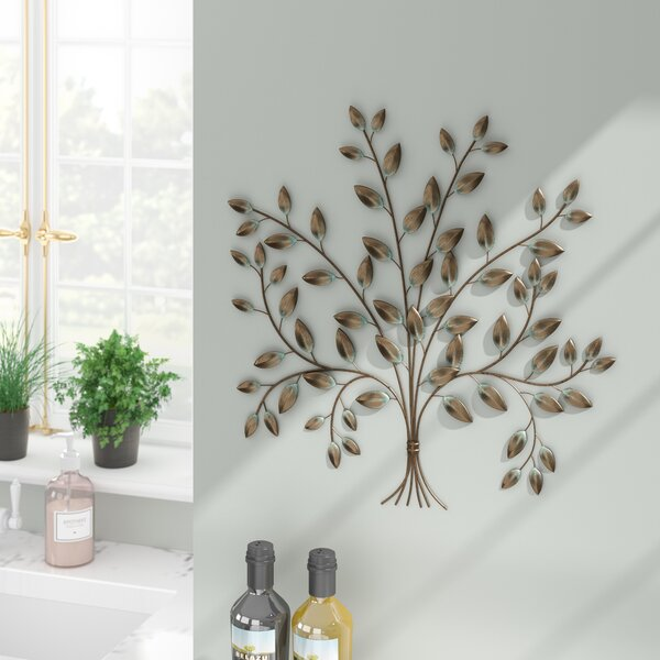 Antique Cream Wood Metal Wall Decor: Tree Of Life Wall Art Metal