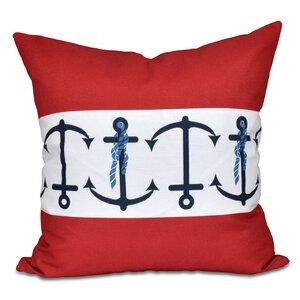 Hancock Anchor Stripe Print Outdoor Throw Pillow