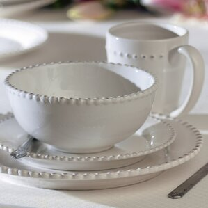 milford 16 piece dinnerware set service for 4