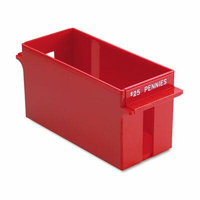 Porta-Count System Extra-Capacity Rolled Coin Plastic Storage Tray